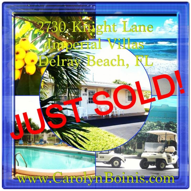 Imperial Villas Delray Beach Home Sold Carolyn Boinis Realtor