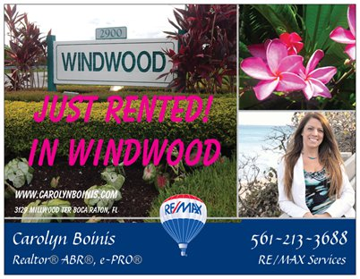 Windwood Boca Raton Florida Carolyn Boinis Boca Raton Real Estate Agent