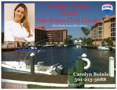San Remo  Club Boca Raton Florida Homes for sale Beach Carolyn Boinis REMAX